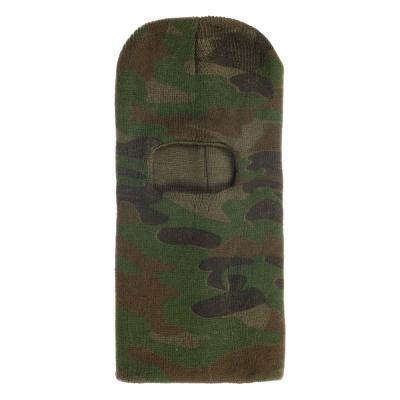 127-024 AZOR Шапка маска , одно отверстие , камуфляж, 100% акрил