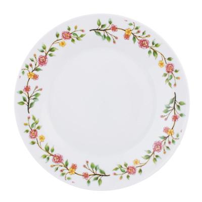 """821-999 Тарелка десертная фарфоровая, 19 см, """"Розовый венок"""""""