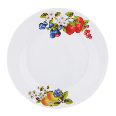 """809-033 Тарелка десертная, фарфор, 19 см, """"Ягодный бум"""""""