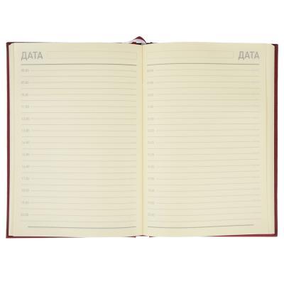 """572-008 Ежедневник недатир.""""Классик"""" А5,320стр, твердая обл.с поролоном, бордовый, ПВХ, бумага, пакет"""