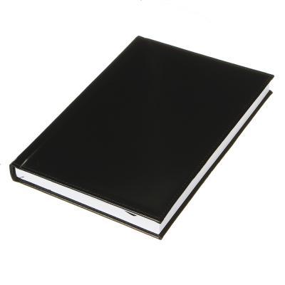 """572-010 Ежедневник недатир.""""Бизнес"""" А5,320стр, твердая обл.с поролоном, черный, ПУ, бумага, пакет"""