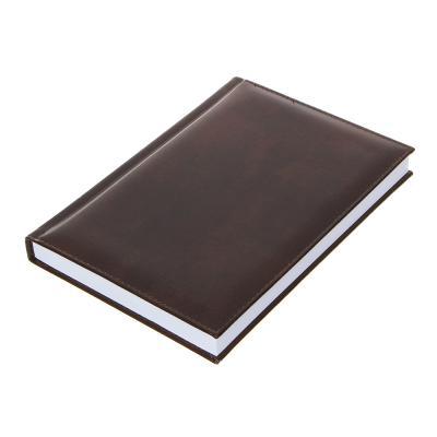 572-011 Недатированный ежедневник А5, 320 стр., ПВХ, бумага, твердая обложка с поролоном, коричневый, пакет,
