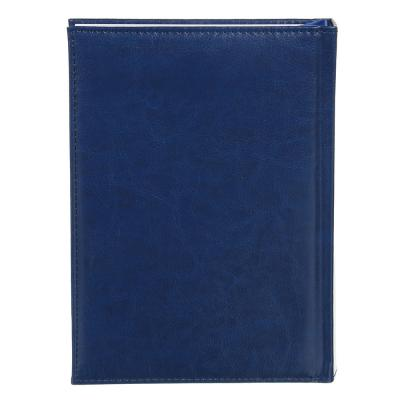 """572-012 Ежедневник недатир.""""Бизнес"""" А5,320стр, твердая обл.с поролоном, т.-синий, ПУ, бумага, пакет"""