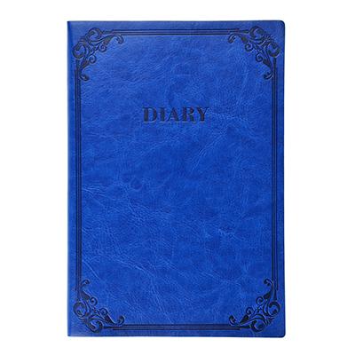 572-016 Недатированный ежедневник А5, 320 стр., ПУ, бумага, гибкая обложка, тиснение, темно-синий