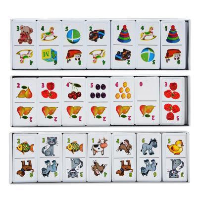 896-033 РЫЖИЙ КОТ Домино пластиковое, 28 фишек, пластик, картон, 18,5х6х1,5см