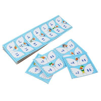 896-037 10КОРОЛЕВСТВО Домино умное картон, 8х4см, 10 дизайнов