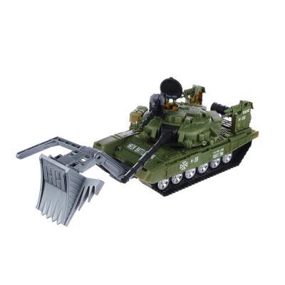 292-123 Машина инерционная в виде танка, пластик, 41х18х17см