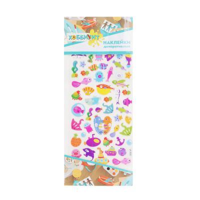 283-083 Набор детских декоративных наклеек, картон, 24х10,5см, 6-8 дизайнов