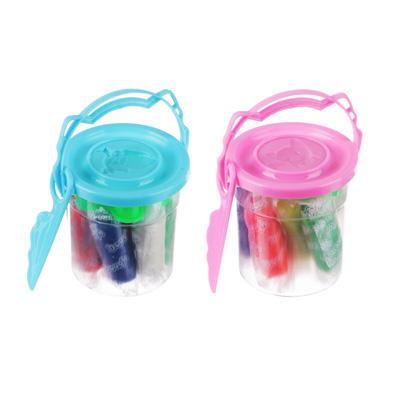 289-130 Набор для лепки, тесто для лепки 60г, 7 цветов, пластик 1пр, пласт.ножик, 2 цвета
