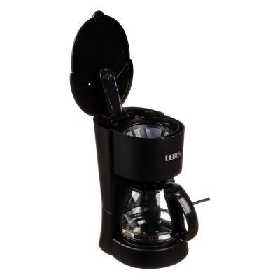 286-024 Кофеварка капельная LEBEN 650 Вт, на 6 чашек, колба 0,6 л