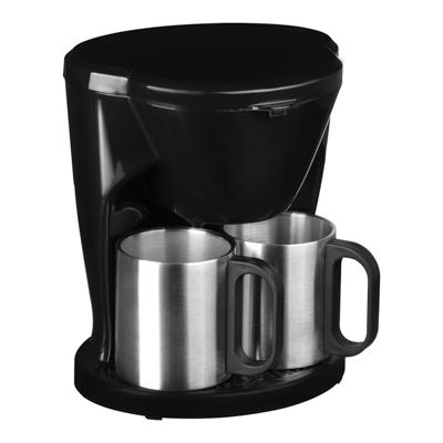 Кофеварка капельная 500Вт, две керамические чашки 0,3л