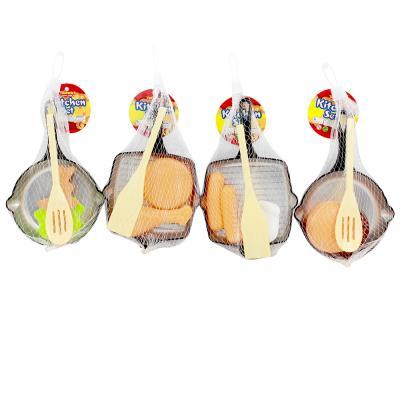 """294-074 Набор игровой """"Сковорода с продуктами"""", пластик, 12,5х22х1,5см"""