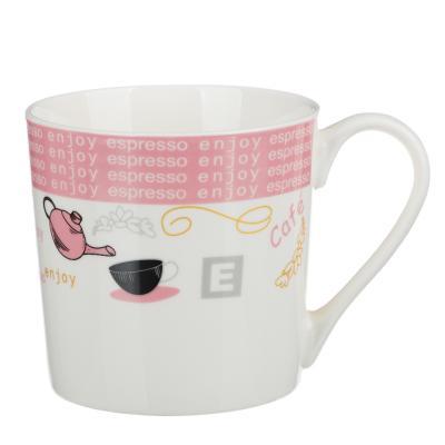 """806-440 Кружка керамическая 400 мл, 4 цвета, """"Чайник и чашка"""""""