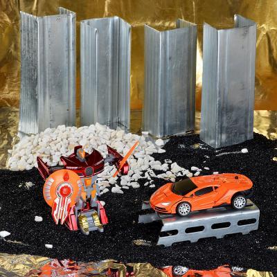 296-042 ИГРОЛЕНД Робот трансформирующийся с оружием, металл, пластик, 17,5х24х9,5см, 2 дизайна