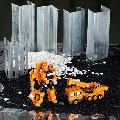296-043 ИГРОЛЕНД Робот трансформирующийся в строительную технику, металл, пласт., 21,5х24,5х9,5см 5 дизайнов