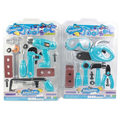 276-066 Набор инструментов на блистере, пластик, 10 предметов, 31х44х4,5см, 2 дизайна