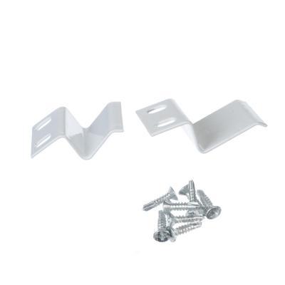602-146 Крепление для москитной сетки, металл, белый