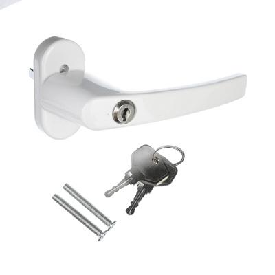 602-150 Ручка оконная, металл с замком, белый