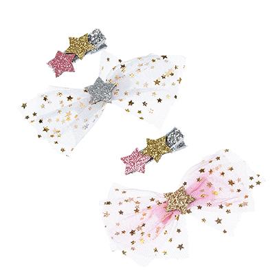 321-281 Набор зажимов для волос с декором звезда, 2 цвета