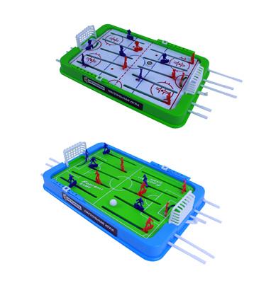 897-021 ИГРОЛЕНД Настольная игра Футбол/Хоккей, пластик, 36х22х5,5см, 2 дизайна