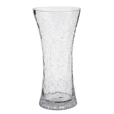 502-677 Ваза стеклянная с эффектом битого стекла, 24,5х13 см