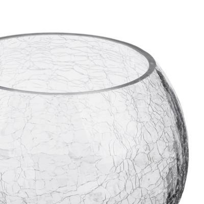 502-678 Ваза стеклянная с эффектом битого стекла, 12х14 см