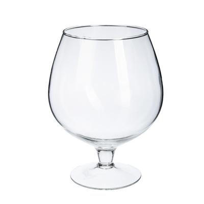 502-688 Ваза стеклянная в виде бокала, 25х18,5 см, 3,5 л, арт.1682