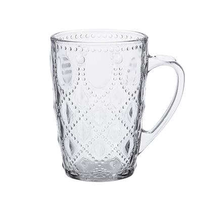 """806-446 Кружка стеклянная 300 мл,2 дизайна, """"Чайная-1"""""""