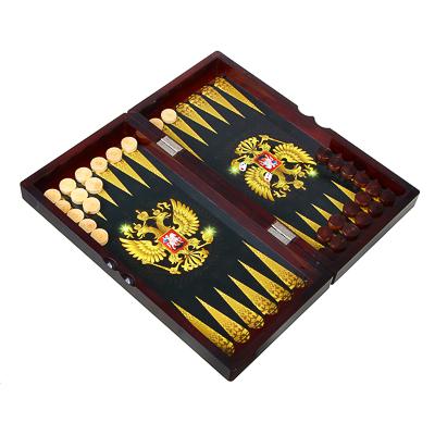 538-085 Нарды в подарочной коробке, 40х20х6,3см, дерево, дизайн с гербом