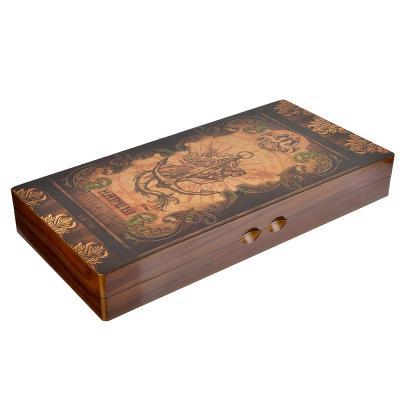 538-086 Нарды в подарочной коробке, 40х20х6,3см, дерево, дизайн морской