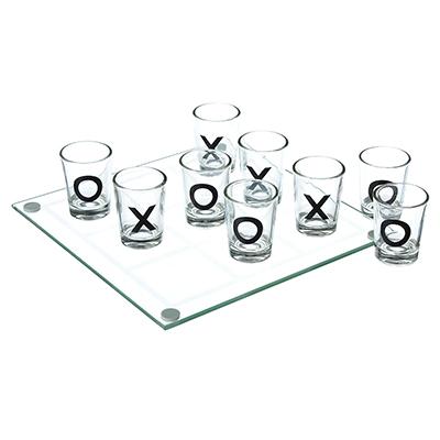 """538-090 Игра на выпивание """"Крестики нолики"""", 22х22х6,3 см, стекло"""