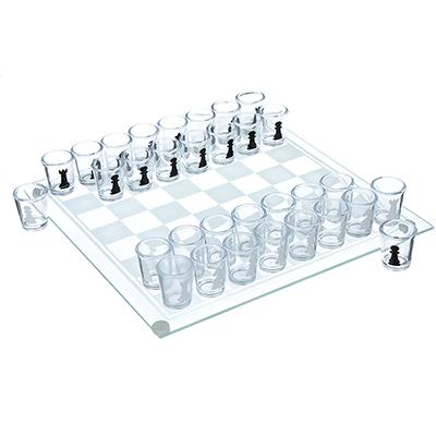"""539-017 Игра на выпивание """"Шахматы"""", 28х28х5,5 см, стекло"""