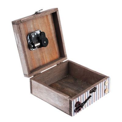 504-574 Шкатулка музыкальная 14х14х12 см, МДФ, полистоун