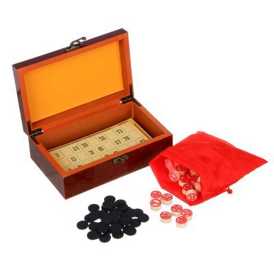 537-005 Лото в подарочной коробке, 19,5х12х7см, дерево, 2 цвета