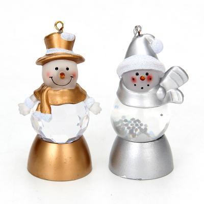 N01-056 СНОУ БУМ Светильник LED с водой и блестками, пластик, в виде снеговичка, 8х4 см, CR2032, 2 дизайна