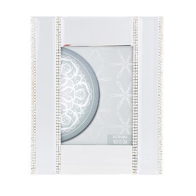 520-517 Фоторамка 20х16,5 (10х15) см, стекло, зеркальная с серебром