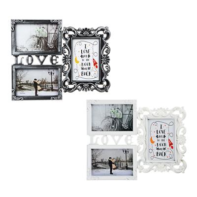 424-019 Фоторамка на 3 фотографии, 33,8х27,5 см, пластик, белая