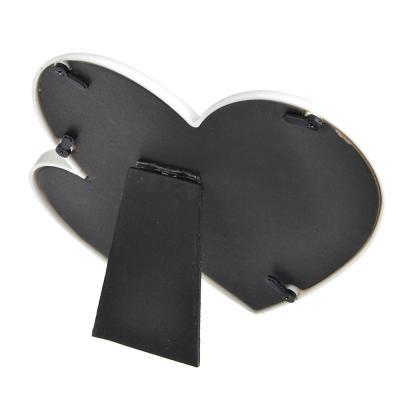 424-023 Фоторамка в виде сердечек, 16,5х16 см, пластик