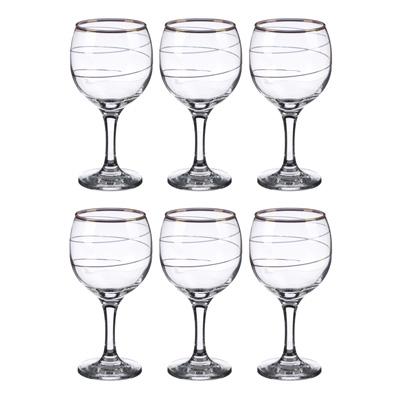 """878-377 Набор фужеров 6шт для вина 290 мл, """"Спираль"""", в под/уп, арт 1711-3"""