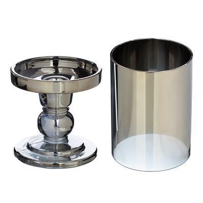 477-022 Подсвечник со стеклянной колбой, 18х8,5 см