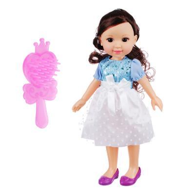 """267-773 Кукла """"Модная"""" 34см, пластик, полиэстр, 16х8х35см"""