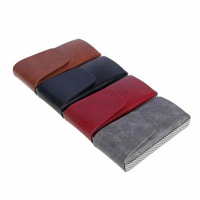 339-056 PAVO Футляр для очков на магнитной застежке, ПУ, 14,5х7см, 4 цвета