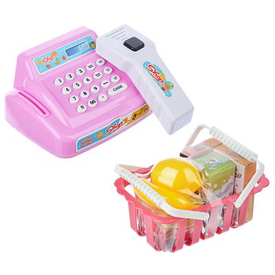 "294-087 Игровой набор ""Касса"", на батарейках (3АА касса +2АА сканер), свет,звук,пластик, картон,32х17х17 см"
