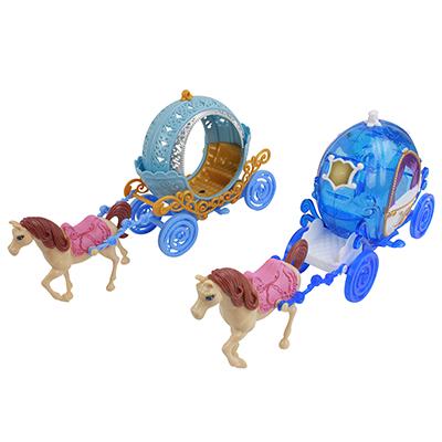 258-012 Экипаж для маленькой куклы, пластик, 17,5х8,5х32