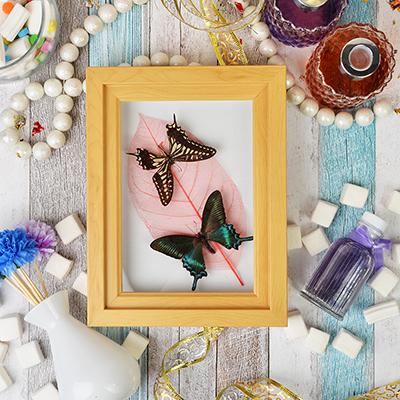 597-163 Панно с бабочками, стекло, МДФ, 17х22 см