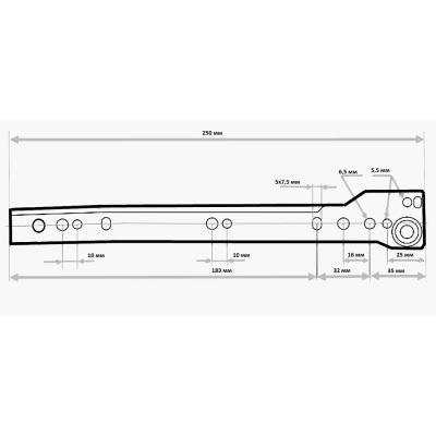 623-453 Направляющие роликовые, сталь, 250/0,9мм