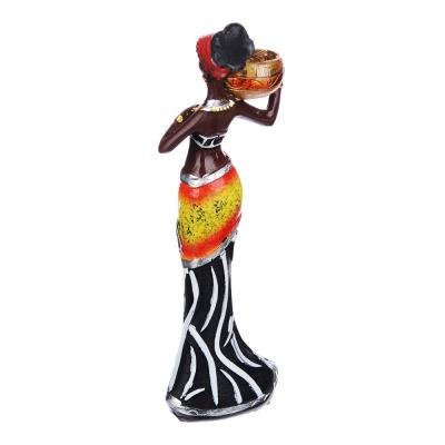 509-781 Статуэтка в виде африканки, на подставке, 15-15,5 см, полистоун, 4 дизайна