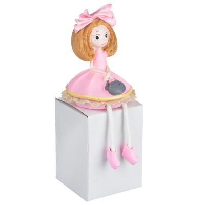 509-786 Статуэтка девушка в платье, 10х7,5 см, полистоун, 4 вида