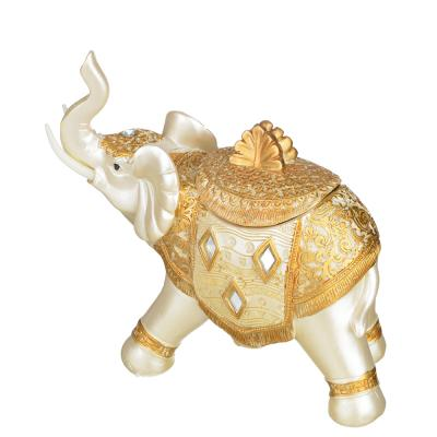 509-796 Фигурка - шкатулка в виде слона, 17х7,5х15,5 см, полистоун, 2 вида