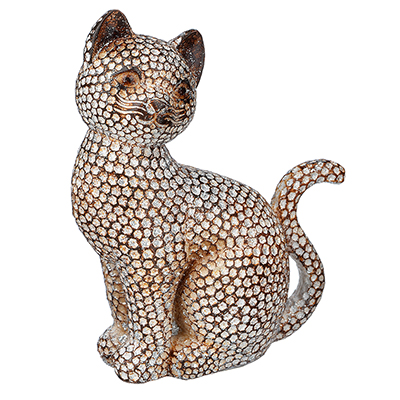 509-805 Фигурка в виде кошки, 13х9 см, полистоун